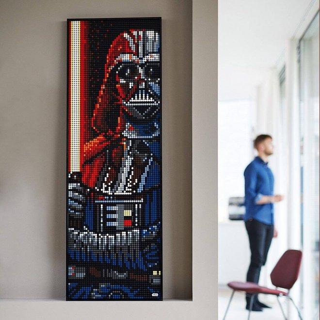 Новые паззлы LEGO Art предлагают вам собрать портрет Дарта Вейдера