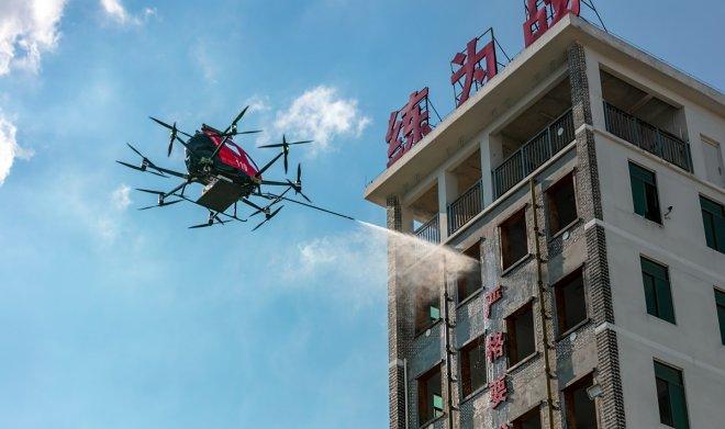 EHang разработала летающую пожарную машину