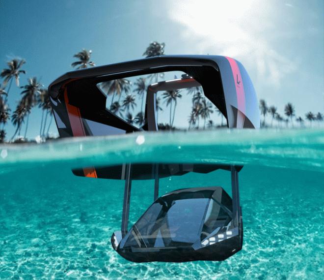 Необычный катер Swordfish позволит путешествовать по воде и под водой