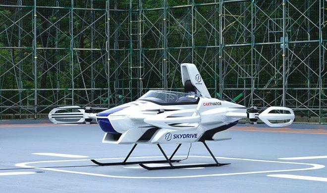 Персональный транспортный коптер SkyDrive SD-03 совершил первый публичный полет