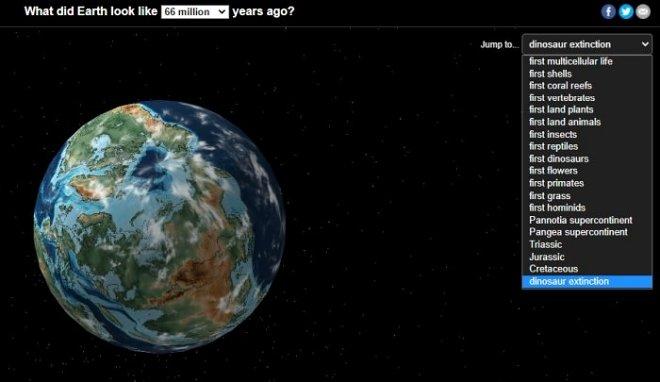 Найдите свой дом на карте древней Земли