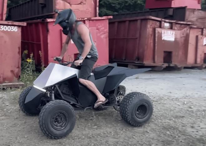 Механик-любитель не стал ждать и построил Tesla Cyberquad своими руками