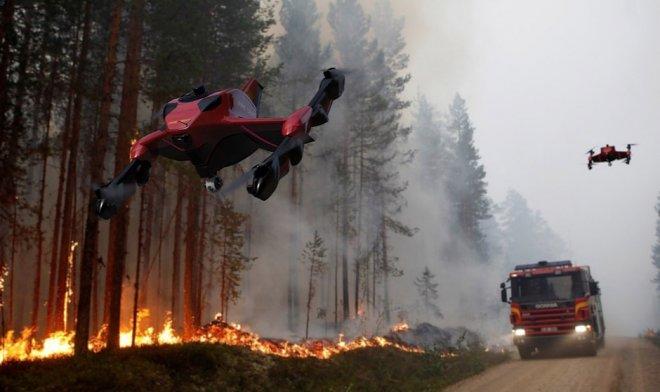 Спасательный дрон Recruit спешит на помощь со скоростью 225 км/ч
