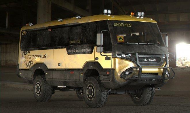 Украинская компания Torsus выпустила самый экстремальный школьный автобус в мире