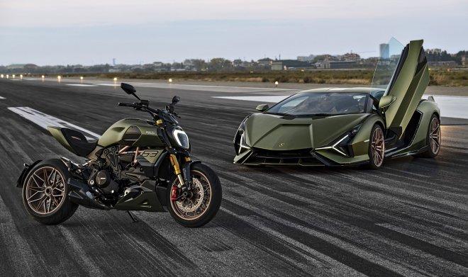 Ducati и Lamborghini совместно разработали элитный байк Diavel 1260