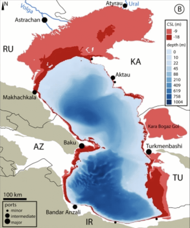 Каспийское море, скорее всего, прошло точку невозврата