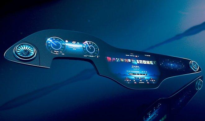 Mercedes-Benz разработал «гиперэкран» на замену приборной панели электромобилей