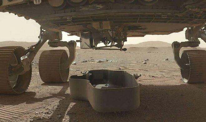 Внутри первого марсианского вертолета спрятали кусочек самолета братьев Райт