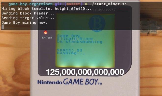 GameBoy для майнинга