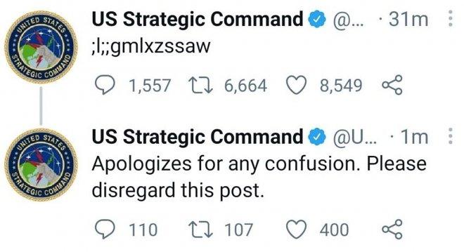 Дивний запис у Твіттері Стратегічного командування США влаштував переполох