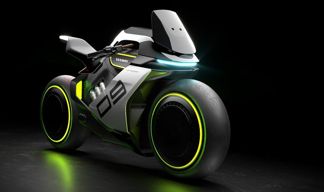 Segway представила ультра-футуристичный водородный мотоцикл Apex H2