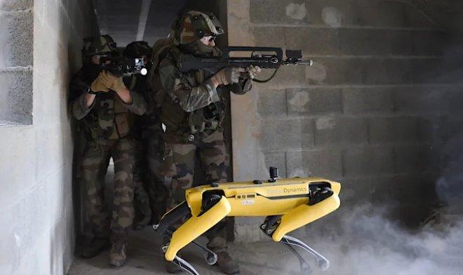 Французская армия провела учения с участием робо-пса Spot